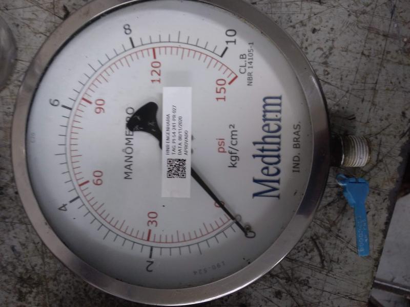 Calibração manometro